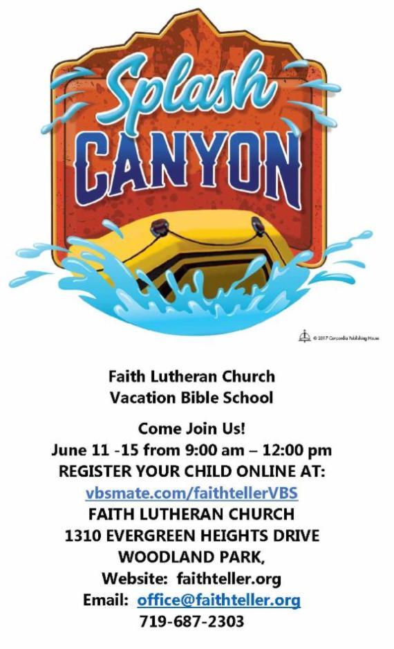 Faith Lutheran Splash Canyon