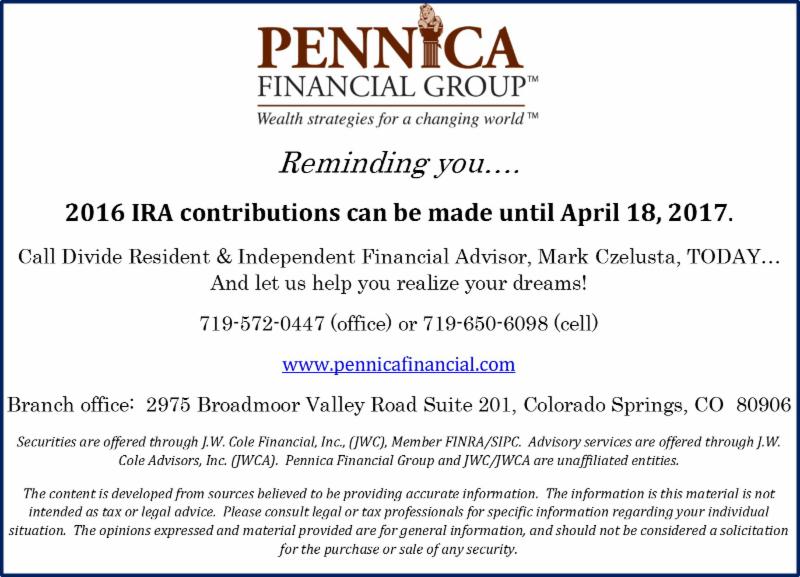 2016 IRA Contributions