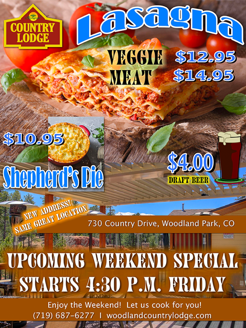 Country Lodge Specials