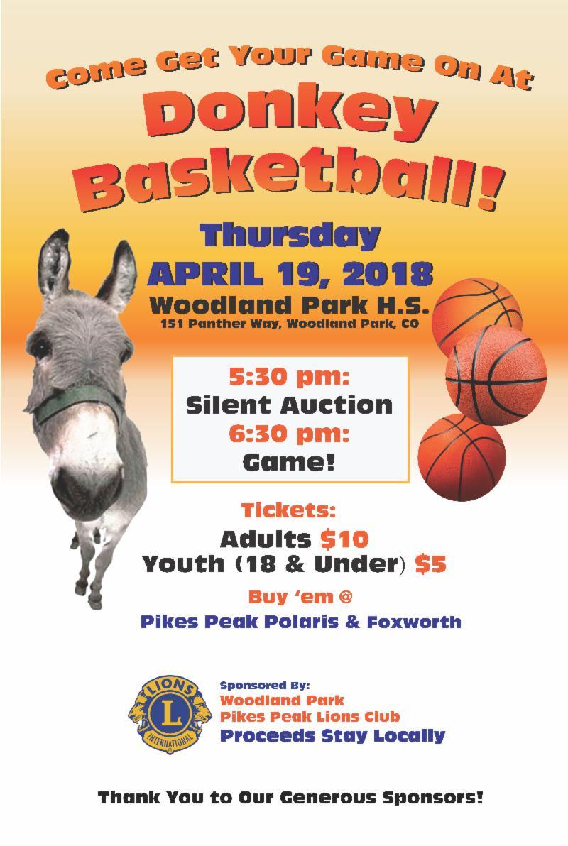 Lions Donkey Basketball
