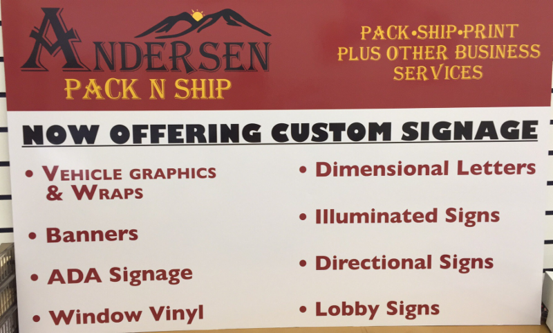 Signs at Andersen
