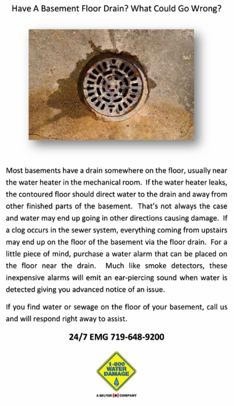 1-800 Basement Floor Drain