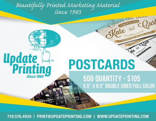 Update Printing Postcards