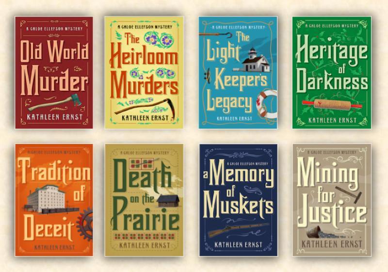 8 Chloe Ellefson mystery books.