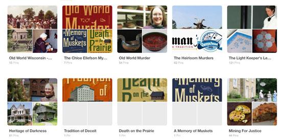Author Kathleen Ernst Chloe Ellefson boards on Pinterest.