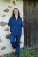 Bestselling author Kathleen Ernst at Old World Wisconsin. Photo by Kay Klubertanz.