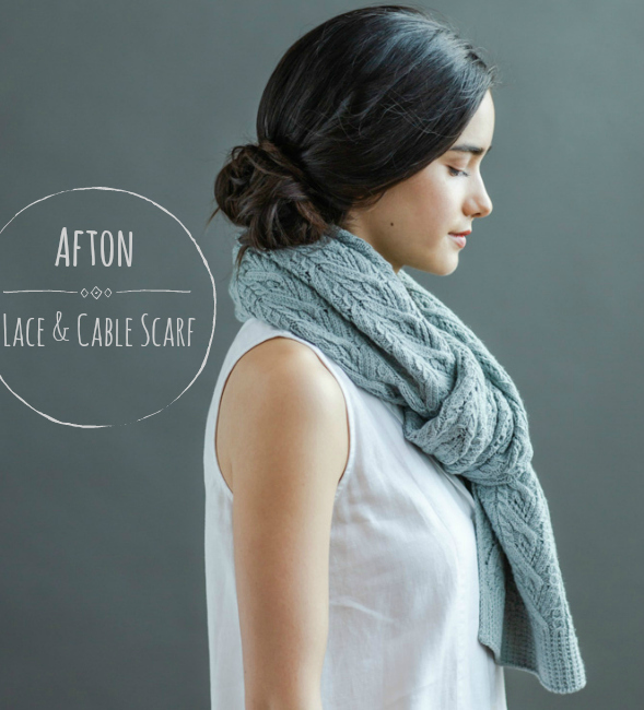 Afton Lace & Cable Scarf