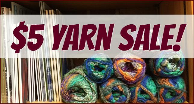 $5 Yarn Sale!