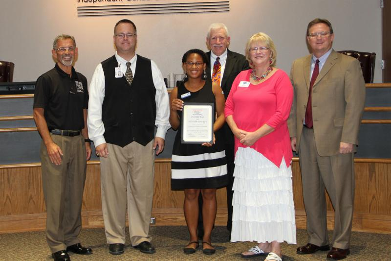 United Way of Denton County honored as a new PIE partner at the Aug. 22, 2016, board meeting