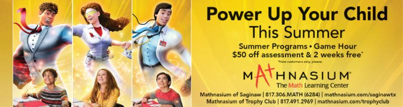 A banner ad for Mathnasium