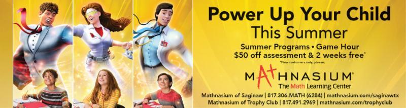 A banner ad for Mathnasium