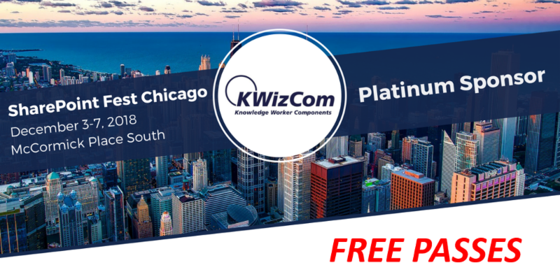 SharePoint Fest Chicago free passes from KWizCom