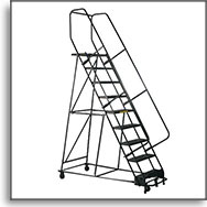 Rolling Step Ladders at SJF.com
