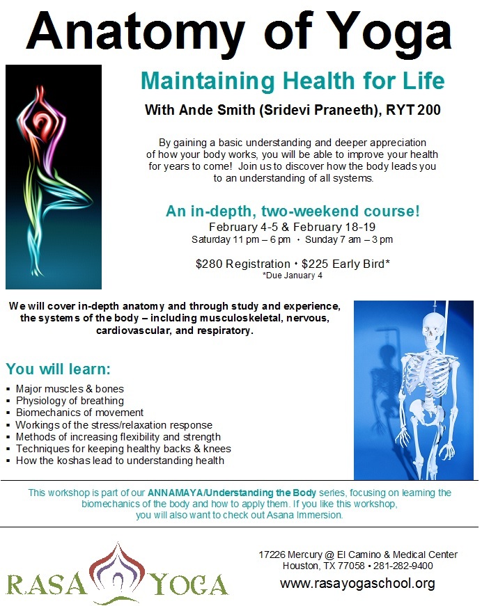 Anatomy of Yoga - Early Bird Registration Ends Today
