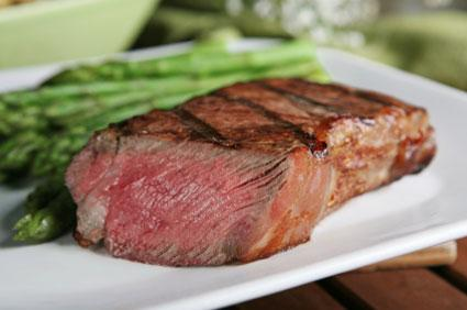 NY Strip with Asparagus