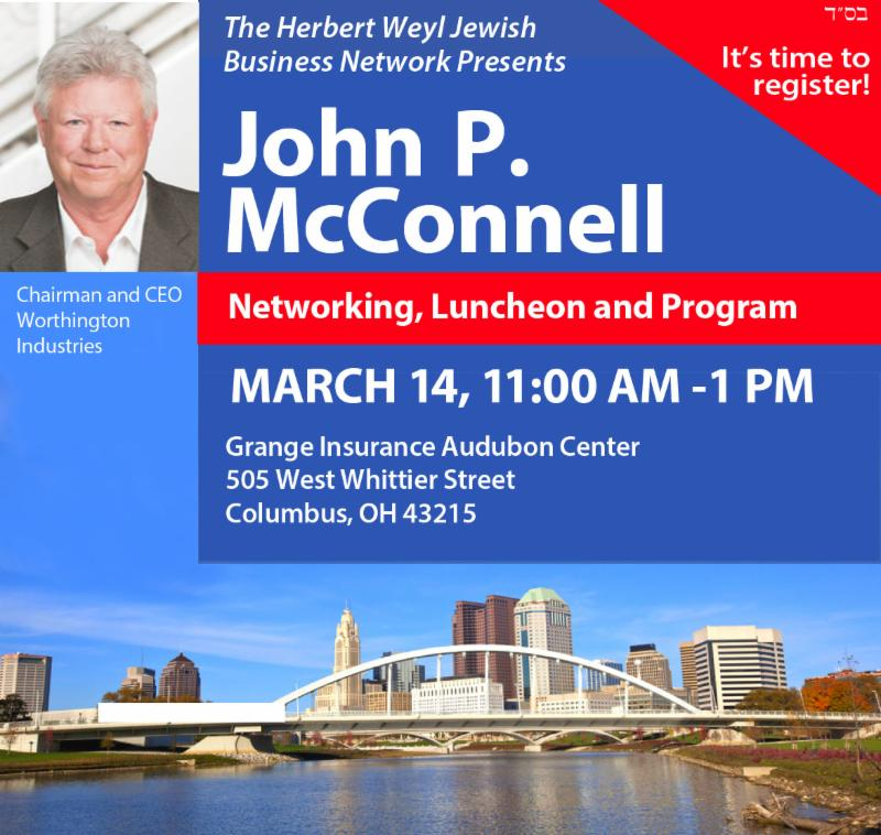 John P. McConnell Networking Luncheon March 14 11-1