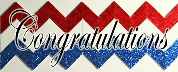 red white blue chevrons congratulations