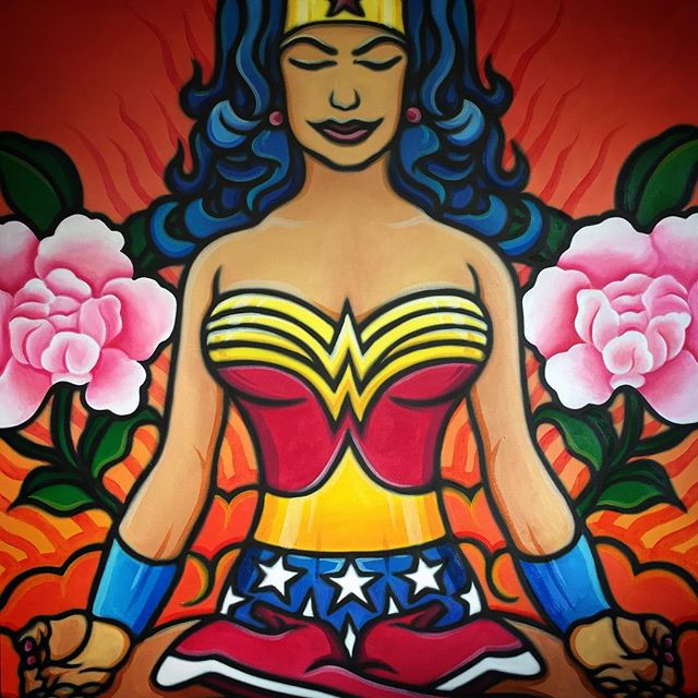 original yoga painting omwoman yoga meditate. Original Yoga Painting Omwoman Meditate L