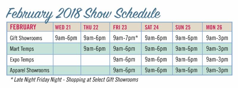 Denver Gift Schedule