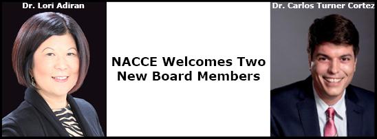 NACCE Welcomes 2 New Board Members