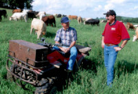 NRCS Photo with Grazing Land Specialist Brian Pillsbury on right