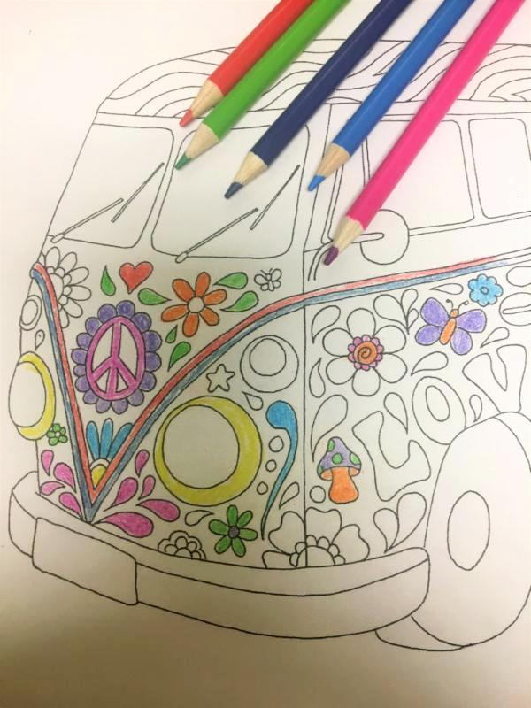 coloring page- VW bus