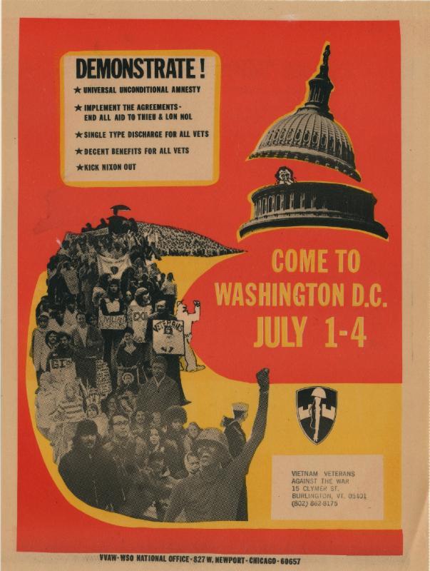 war demonstration poster