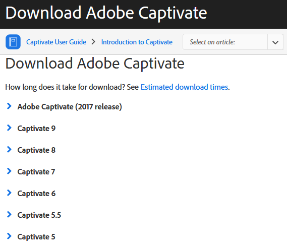 The Logical Blog by IconLogic: ADOBE CAPTIVATE: Where Did The Old