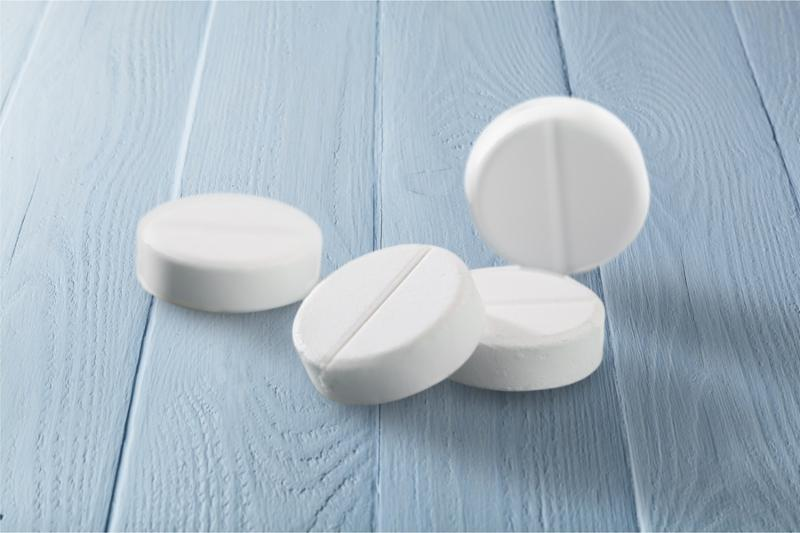 Pill Aspirin Medicine White Prescription Shadow Close Up