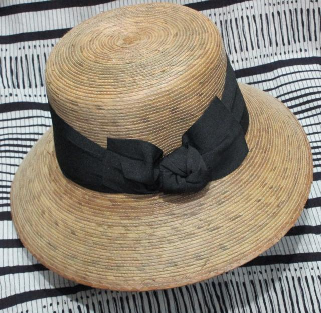 Sturdy straw hat expertly made in Mexico.