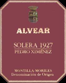 Alvear 1927 PX Halves label