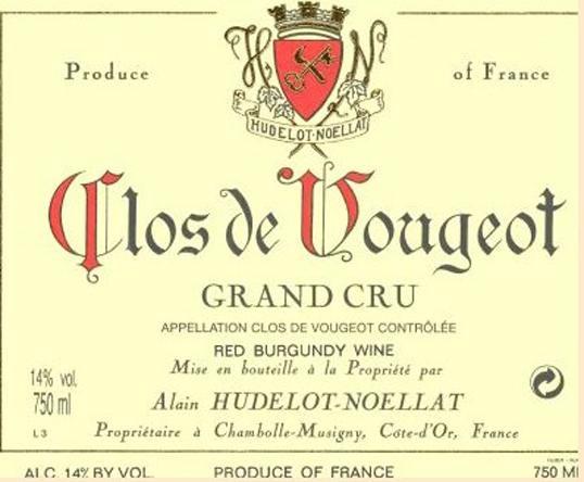 Hudelot-Noellat Clos Vougeot label