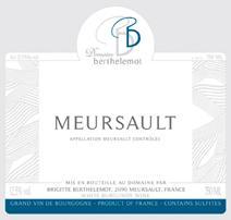 Bertelemot Meursault Label 3