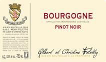 Felettig Bourgogne Pinot Noir label