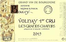 Bouley Grand Champs 2015 Label
