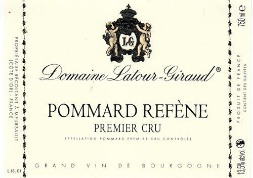 Latour-Giraud Pommard Refene Label