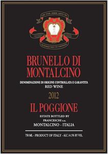 Poggione Brunello 2012 Label