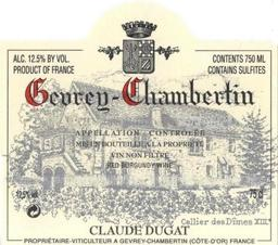 Dugat Claude Gevrey label