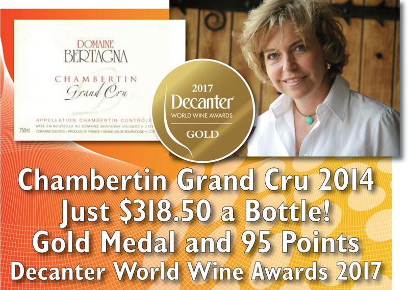 Bertagna 2014 Chambertin Gold Medal Header