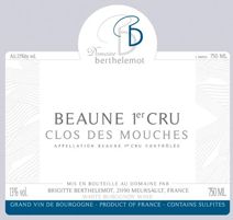 Berthelemot Mouches Blanc Label