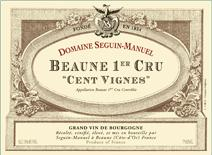 Seguin-manuel Beaune Cent Vignes label
