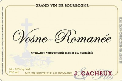 Cacheux Vosne label