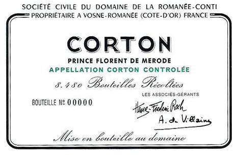 DRC Corton Label