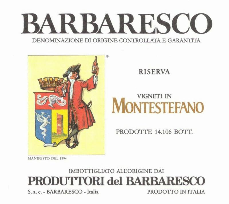 Produttori Barbaresco Monstefano label 2