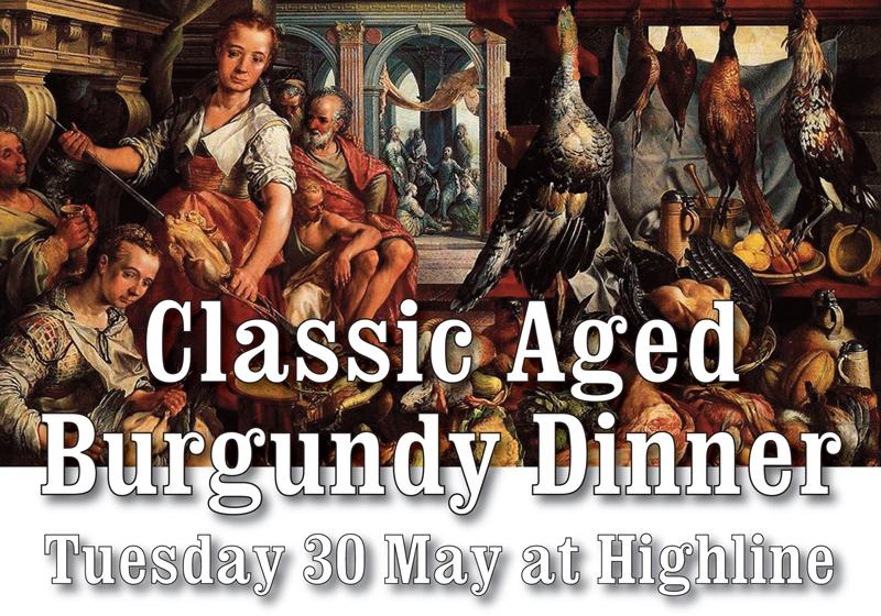 Classic Aged Burgundy Dinner Highline Header