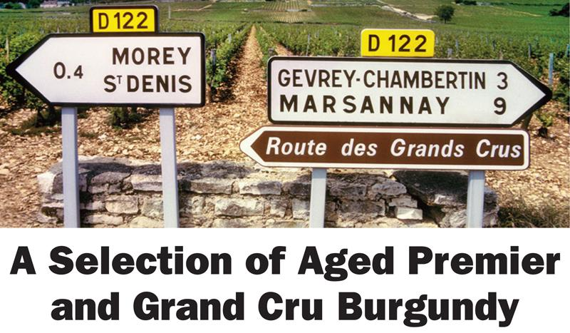 Aged Premier and Grand Cru Burgundy Header