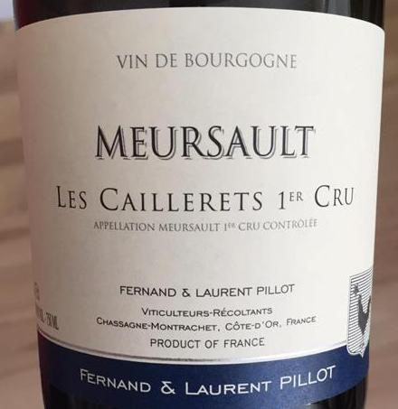 Pillot Meursault Cailerets Label