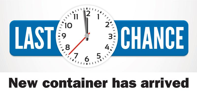 Last Chance New Container Arrived
