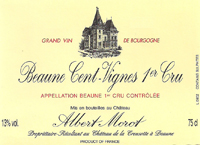 Morot Cent Vignes Label