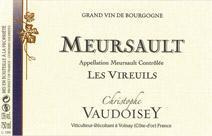 Vaudoisey Meursault label